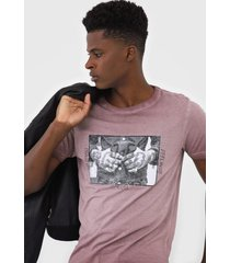 camiseta rock&soda estampada bordã´ - bordã´ - masculino - algodã£o - dafiti