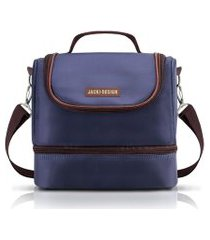 (for men) bolsa térmica com 2 compartimentos jacki design azul marrom