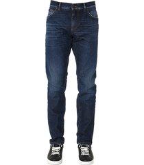 dolce & gabbana dark blue denim slim jeans