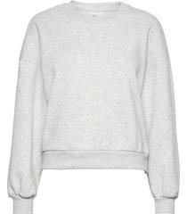 basic sweater sweat-shirt tröja grå gina tricot