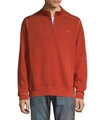 half-zip cotton sweatshirt