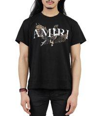 amiri black eagle tee