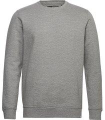 6197729, sweat - morgan crew organi sweat-shirt tröja grå solid