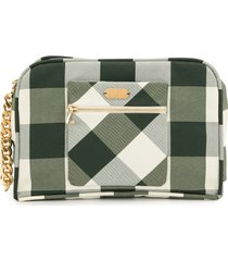 0711 khaki vivi cosmetic bag - green