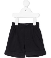 il gufo cotton bermuda shorts - blue