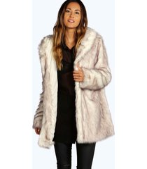 boutique faux fur jas met capuchon