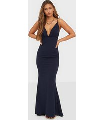 missguided pleated bust fishtail maxi dress festklänningar