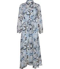 reemaiw dress maxi dress galajurk blauw inwear