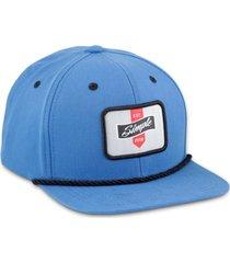boné simple skateboard snapback patch azul