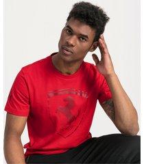ferrari big shield t-shirt voor heren, rood/aucun, maat m   puma