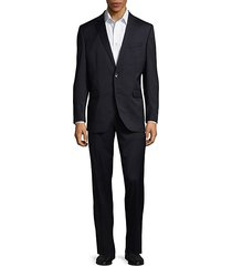 slim-fit solid wool-blend stretch suit