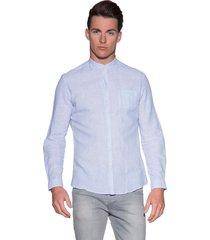 drykorn casual shirt met lange mouwen licht blauw