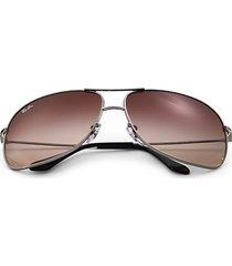 rb3267 64mm square wrap aviator sunglasses