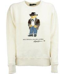 ralph lauren cowboy polo bear sweatshirt