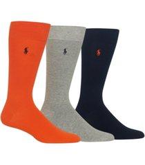 polo ralph lauren men's 3-pk. dress socks