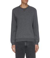 crewneck cotton nylon blend sweatshirt
