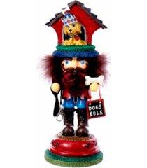 kurt adler 13-inch hollywood doghouse hat nutcracker
