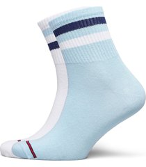 th jeans quarter 2p stripe underwear socks regular socks blå tommy hilfiger