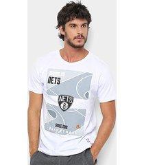 camiseta nba court brooklyn nets masculina
