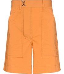 pronounce cargo bermuda shorts - orange