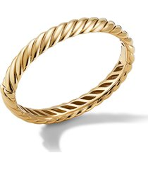 david yurman scultped bangle bracelet, size small in yellow gold at nordstrom