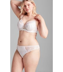 lane bryant women's lace thong panty 26/28 white
