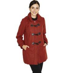 abrigo manga larga liso terracota lorenzo di pontti