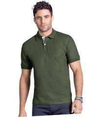 camiseta polo adulto masculino verde militar marketing  personal