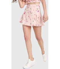 falda rosa-multicolor forever 21
