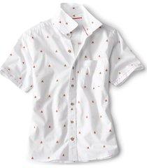 campfire print short-sleeved shirt