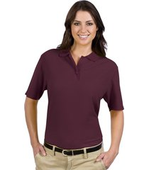 otto ladies' 5.6 oz. pique knit sport shirts maroon (m)