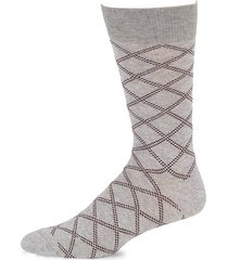 collection dashed plaid crew socks