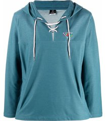 clottee embroidered-logo anorak sweatshirt
