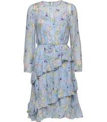 helia dress knälång klänning multi/mönstrad by malina