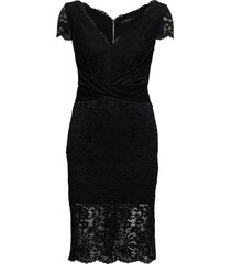 claudia lace dress jurk knielengte zwart marciano by guess