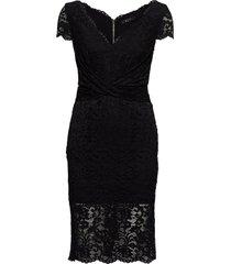 claudia lace dress jurk knielengte zwart marciano by guess