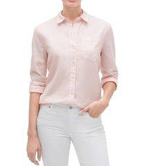 blusa lino blend rosa gap