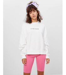 sweatshirt met print en borduursel
