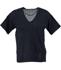 vero moda zachte blauwe trui materiaalmix