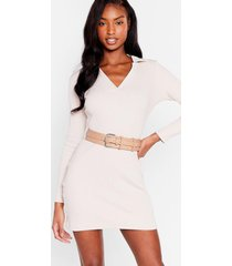 womens double or nothing faux leather buckle belt - nude