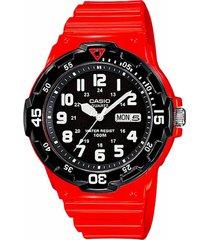 reloj análogo rojo casio
