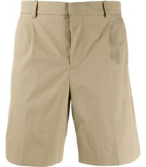 a.p.c. pleated chino shorts - neutrals
