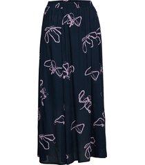 slfhaven mw maxi skirt b lång kjol blå selected femme