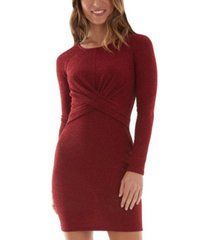 bcx juniors' crisscross bodycon dress