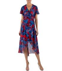 julia jordan floral-print wrap dress