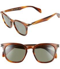 women's rag & bone 50mm polarized round sunglasses -