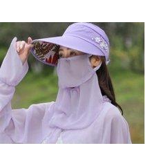 protección solar de verano sombrero para el sol femenino púrpura