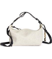ganni slouchy canvas crossbody bag -