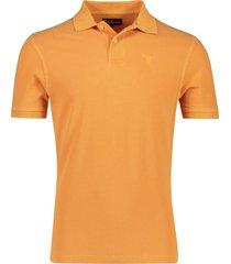 barbour poloshirt oranje