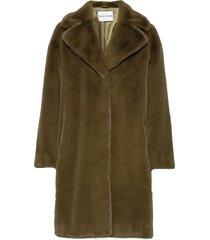 camille cocoon coat outerwear faux fur grön stand studio